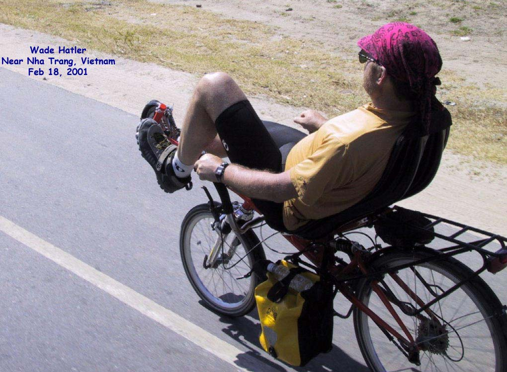 Wade Cycling Near Mi Lai in Vietnam In 2001