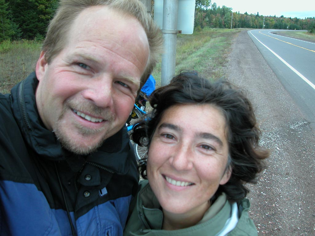 Wade & Amalia At A Rest Stop in Canada in 2003