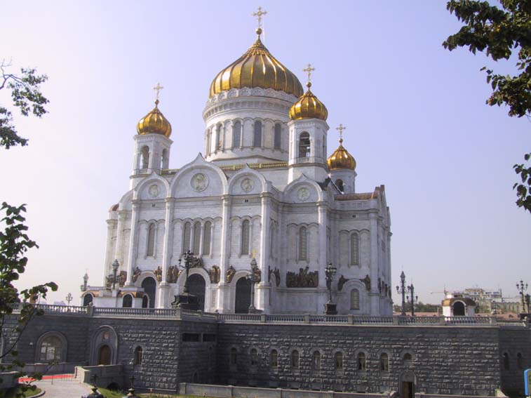 This is a fairly typical russian orthodox church in moscow